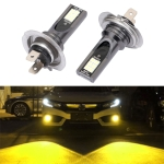 2 PCS H7 DC12V-24V / 12W / 3000K / 800LM 12LEDs SMD-3030 Car LED Fog Light (Yellow Light)