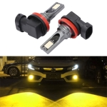 2 PCS H11 / H8 DC12V-24V / 12W / 3000K / 800LM 12LEDs SMD-3030 Car LED Fog Light (Yellow Light)