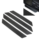 Universal Car Leather Carbon Fiber Texture Door Threshold Decoration Strip Stickers