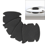 4 PCS Car-Styling Leather Carbon Fiber Texture Door Outer Handle Scratches Resistant Sticker