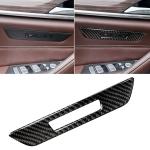 Car Carbon Fiber Seat Memory Button Decorative Sticker for BMW 5 Series G38 528Li / 530Li / 540Li 2018