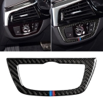 Car Tricolor Carbon Fiber Headlight Switch Frame Decorative Sticker for BMW 5 Series G38 528Li / 530Li / 540Li 2018