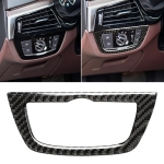 Car Carbon Fiber Headlight Switch Frame Decorative Sticker for BMW 5 Series G38 528Li / 530Li / 540Li 2018