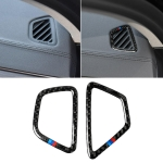 Car Tricolor Carbon Fiber Instrument Air Vent Frame Decorative Sticker for BMW 5 Series G38 528Li / 530Li / 540Li 2018