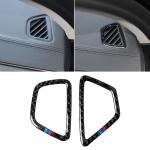 Car Tricolor Carbon Fiber Instrument Air Vent Frame Decorative Sticker for BMW 5 Series G38 528Li / 530Li / 540Li 2018