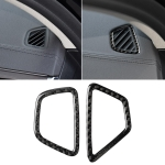 Car Carbon Fiber Instrument Air Vent Frame Decorative Sticker for BMW 5 Series G38 528Li / 530Li / 540Li 2018