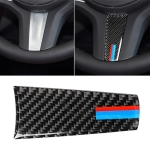 Car Tricolor Carbon Fiber Steering Wheel Decorative Sticker for BMW 5 Series G30/G38 X3 G01/G08