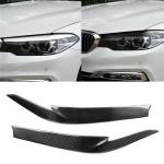 Car Carbon Fiber Light Eyebrow for BMW 5 Series G38 528Li / 530Li / 540Li 2018