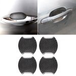 4 PCS Car-Styling Carbon Fiber Door Outer Handle Scratches Resistant Sticker