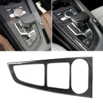 Car Carbon Fiber Gear Position Panel Decorative Sticker for Audi 2017-2018 A4L / 2017-2018 A5 / 2016-2017 A4 B9