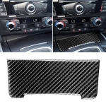 Car Carbon Fiber Storage Cigarette Lighter Panel Decorative Sticker for Audi 2010-2018 Q5 / 2009-2016 A4L / 2009-2016 A5