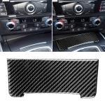 Car Carbon Fiber Storage Cigarette Lighter Panel Decorative Sticker for Audi 2010-2018 Q5 / 2009-2016 A4L / 2009-2016 A5