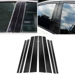 Car Carbon Fiber B Column Decorative Sticker for BMW E70 2008-2013