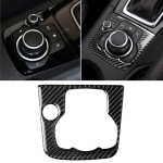 Car Carbon Fiber Right Drive Multimedia Frame A Decorative Sticker for Mazda Axela 2013-2016