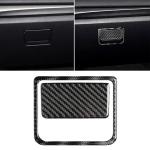 Car Carbon Fiber Front Passenger Seat Storage Box Decorative Sticker for Mazda Axela 2017-2018