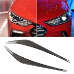 Car Carbon Fiber Light Eyebrow for Hyundai Elantra 2016-2018
