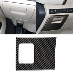 Car Carbon Fiber Main Driving Storage Box Decorative Sticker for Toyota Eighth Generation Camry 2018-2019