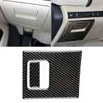 2 in 1 Car Carbon Fiber Main Driving Storage Box Handle Decorative Sticker for Toyota Eighth Generation Camry 2018-2019
