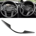 Car Carbon Fiber Steering Wheel Decorative Sticker for Cadillac XT5 2016-2017