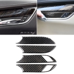 Car Carbon Fiber Door Inner Handle Wrist Panel Decorative Sticker for Cadillac XT5 2016-2017