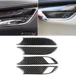 Car Carbon Fiber Door Inner Handle Wrist Panel Decorative Sticker for Cadillac XT5 2016-2017