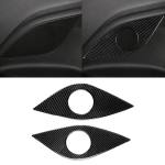 2 PCS Car Carbon Fiber Rear Horn Decorative Sticker for Chevrolet Camaro 2017-2019