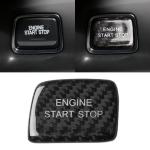 Car Carbon Fiber One-button Start Button Decorative Sticker for Chevrolet Camaro 2016-2019 (Black)