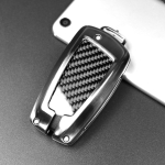 Carbon Fiber Car Key Protective Cover for BMW, Classic Style