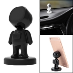 Little People Shape Car Adjustable Magnetic Mobile Phone Holder Bracket (Black)