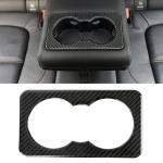 Carbon Fiber Car Rear Water Cup Frame Decorative Sticker for Jaguar F-PACE
