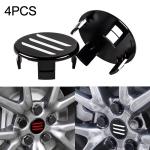 4 PCS Three Pattern Car Tire Hub Central Cap Cover for Tesla Model 3 (White)