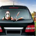 Mask Killer Knife Pattern Horror Series Car Rear Windshield Window Wiper Self-Adhesive Decorative Sticker