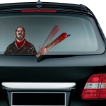 Nigan Lucille Pattern Horror Series Car Rear Windshield Window Wiper Self-Adhesive Decorative Sticker