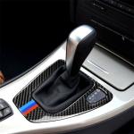RRX CARBON Three Color Carbon Fiber Car Right Driving Gear Panel Decorative Sticker for BMW E90 / E92 2005-2012