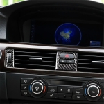 5 PCS RRX CARBON Low Matching Carbon Fiber Car Air Outlet Decorative Sticker for BMW E90 / E92 / E93 2005-2012