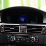 5 PCS RRX CARBON High Matching Carbon Fiber Car Air Outlet Decorative Sticker for BMW E90 / E92 / E93 2005-2012