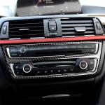 RRX CARBON Carbon Fiber Car CD Panel Decorative Sticker for BMW (F30) 2013-2015 / (F34) 2013-2016