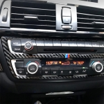 RRX CARBON Three Color Carbon Fiber Car CD Panel Decorative Sticker for BMW (F30) 2013-2015 / (F34) 2013-2016