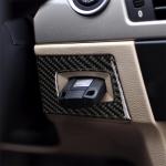 RRX CARBON Carbon Fiber Car Left Driving Ignition Switch Decorative Sticker for BMW E90 / E95 2005-2012