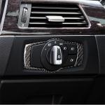 Carbon Fiber Car Headlight Switch Decorative Sticker for BMW E90 / E92 / E93 2005-2012