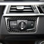 Carbon Fiber Car Headlight Switch Decorative Sticker for BMW F30 2013-2017 / F34 2013-2017