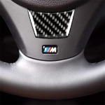 Little B Version Carbon Fiber Car Steering Wheel Decorative Sticker for BMW E90 2005-2012
