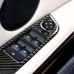 4 PCS Carbon Fiber Car Left Driving Lifting Panel Decorative Sticker without Folding for BMW E90 / 320i / 325i, Diameter: 35.8cm