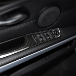 4 PCS Carbon Fiber Car Left Driving Lifting Panel Decorative Sticker with Folding for BMW E90 / 320i / 325i, Diameter: 37.8cm