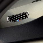 Three Color Carbon Fiber Car Left Driving Instrument Air Outlet Decorative Sticker for BMW E90 2005-2012