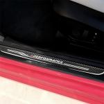 High Edition Carbon Fiber Car Door Threshold Decorative Sticker for BMW E90 2005-2012