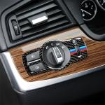 Three Color Carbon Fiber Car Headlight Switch Decorative Sticker for BMW 5 Series F01 / F10 / F07 / F25 / F26