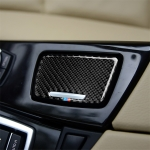 Three Color Carbon Fiber Car Ashtray Decorative Sticker for BMW 5 Series F10 2011-2017