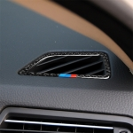 Three Color Carbon Fiber Car Instrument Air Outlet Decorative Sticker for BMW 5 Series F07 5GT 535i 2010-2016