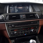 Three Color Carbon Fiber Car CD Panel Center Console Air Conditioning Panel Decorative Sticker for BMW 5 Series F07 5GT 535i 2010-2016